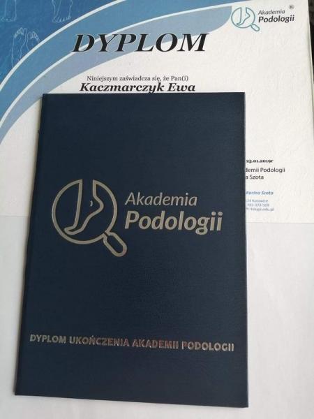 Dyplom ukończenia akademii podologii